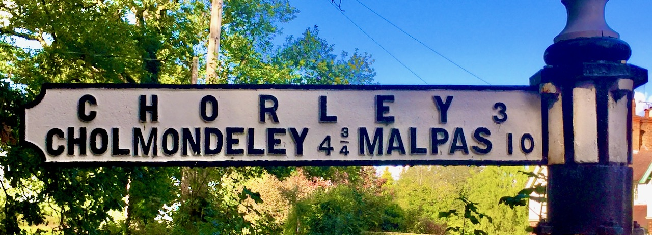 Chorley Cholmondeley sign post