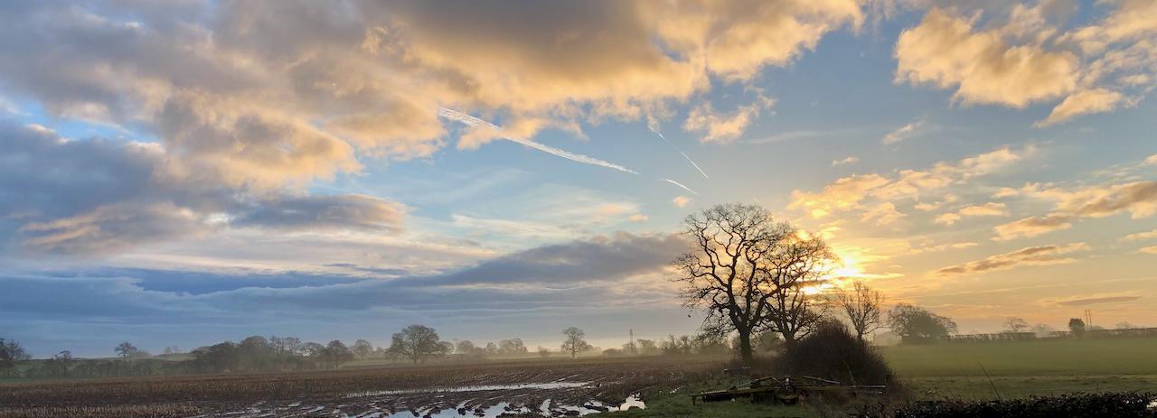 Dawn sky in Chorley