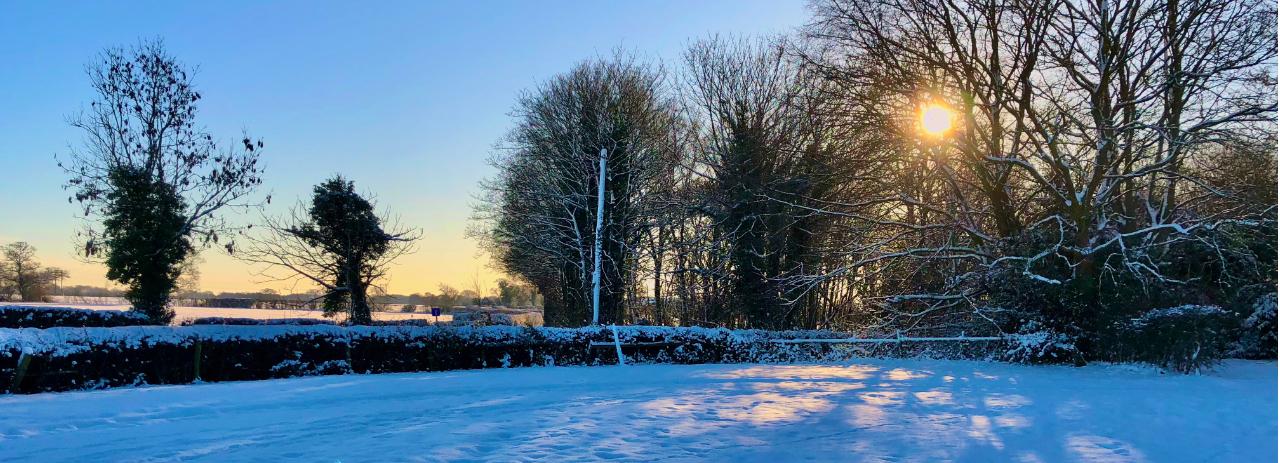 Winter sun in Chorley