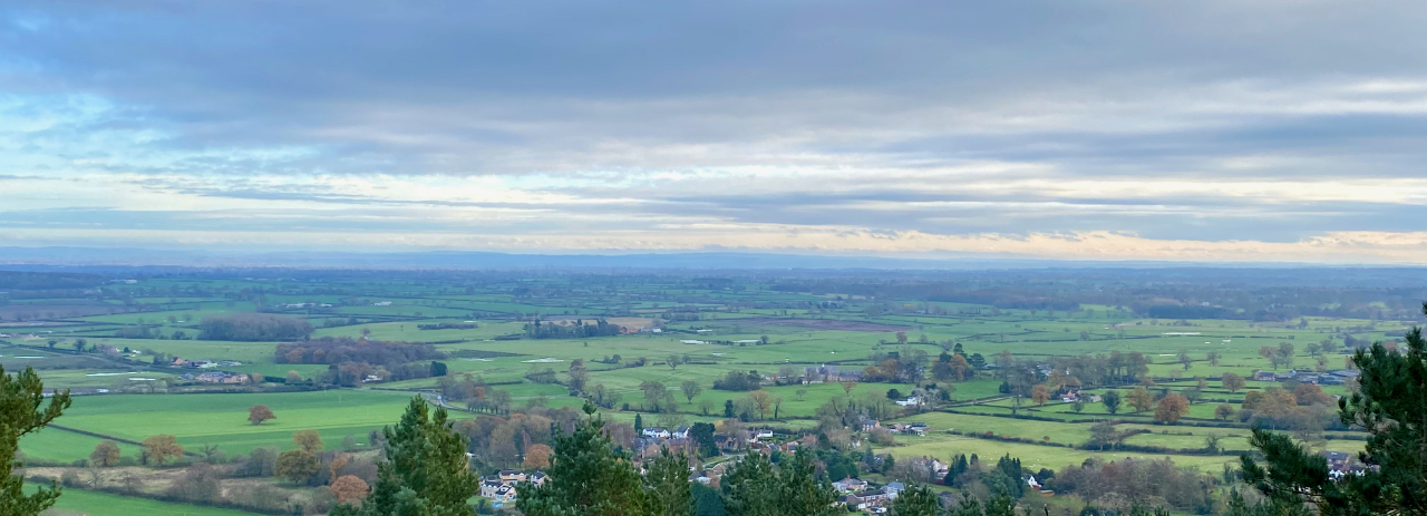 The Parishes from Bulkeley Hill in winter